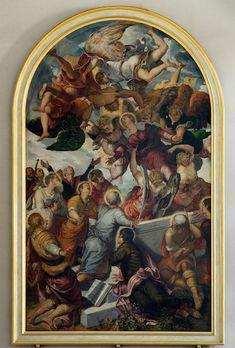 Bamberg Obere Pfarre - Das Altargemälde der Mariä Himmelfahrt von Jacopo Tintoretto in der Oberen Pfarre in Bamberg