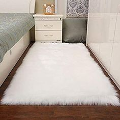 Faux Wool Plush Rug Soft Shaggy Carpet Home Floor Area Mat Decoration is on sale at discount prices now, buy Faux Wool Plush Rug Soft Shaggy Carpet Home Floor Area Mat Decoration NewChic. Carpet Diy, Plush Carpet, Grey Carpet, Rugs On Carpet, Hall Carpet, Fur Carpet, Carpet Decor, Carpet Tiles, White Faux Fur Rug