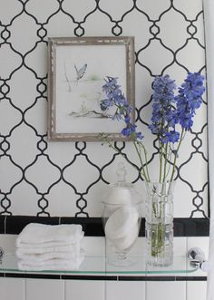 COTTAGE AND VINE: Bathroom Updates   Wallpaper by Walls Republic