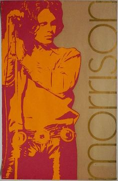 The Doors: Jim Morrison promotional poster, 1969 Psychedelic Rock, Rock Posters, Concert Posters, Band Posters, Music Posters, The Doors Jim Morrison, Riders On The Storm, Art Music, Rock Art