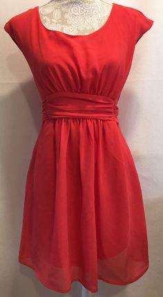Pins And Needles Urban Outfitters Casual Sleeveless Coral Dress Sz Medium M #PinsAndneedles #Sundress #Casual