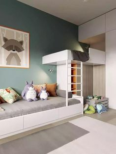 32 Ideas Kids Room Loft Bed Boys For 2019 - All For Decorations Baby Boy Rooms, Baby Bedroom, Kids Bedroom, Bedroom Decor, Room Baby, Decor Room, Twin Room, Bedroom Small, Bedroom Loft