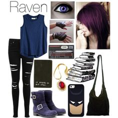 Designer Clothes, Shoes & Bags for Women Teen Titans Outfits, Spy Outfit, Outfit Ideas, Collage Outfits, Superhero Fashion, Kate Bishop, Cartoon Outfits, Fall Jeans, Fandom Outfits