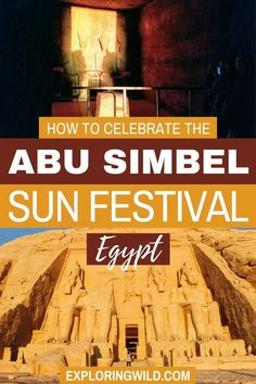 Abu Simbel should be on your list of places to visit in Egypt, and the Sun Festival is a special time to see the temples at Abu Simbel. If you time it right, you can even see this unique phenomenon without the crowds. Put this special experience on your Egypt bucket list for a unique thing to do in Egypt. Egypt Travel, Africa Travel, Travel Sights, Travel Destinations, Travel Advise, Travel Tips, Visit Egypt, Travel Humor, Temples