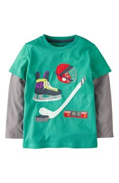 Mini Boden 'Doing Stuff' Long Sleeve T-Shirt (Toddler Boys) available at #Nordstrom