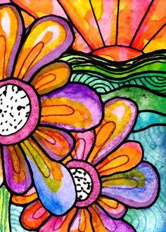 gotta do this. use black glue/blk crayon & watercolor resist