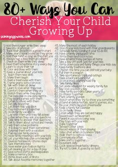 This printable list is so helpful for moms looking to make the most out of every moment their kids are growing. I love the simple ideas for making and cherishing those special memories with our kids that will last forever.