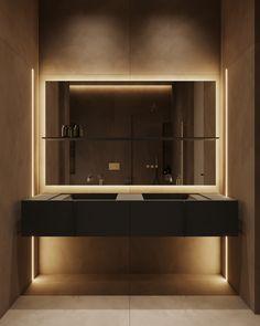 Master Bathroom Study Interior Design, Master Bathroom, Mirror, Furniture, Home Decor, Case Study, Architects, Bathrooms, Spaces