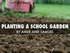 """""""Planting A School Garden"""" - A Haiku Deck by Kristi Gross"""