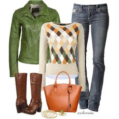 Weekend Outfit.  Love the Colors and textures.