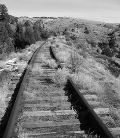 Abandoned Northern Pacific Tracks  Between Whitehall,Montana and Butte,Montana