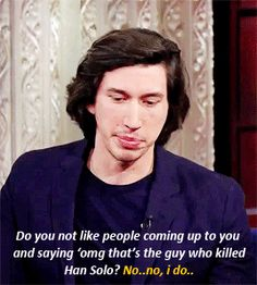 Adam Driver on the late show with Stephen Colbert - 4