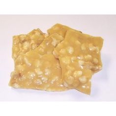 Scott`s Cakes 1 lb. Macadamia Nut Brittle in a Gold Tray with Red Krinkle