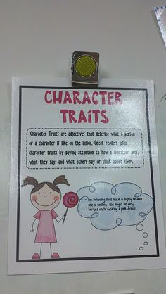 Character Traits- Always a hard thing to grasp.