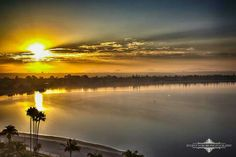 Sunrise over Mission Bay in San Diego, Ca