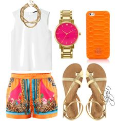 """Orange"" by nhabyg on Polyvore"