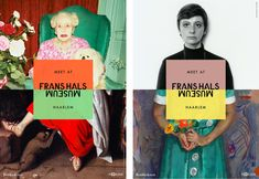Frans Hals Museum Identity by Kesselskramer — Design Logo And Identity, Identity Design, Visual Identity, Corporate Identity, Corporate Design, Brochure Design, Brand Identity, Museum Identity, Museum Branding