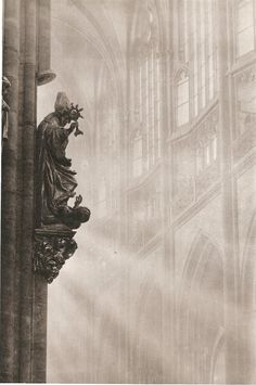 Prague cathedral by Josef Sudek, 50's