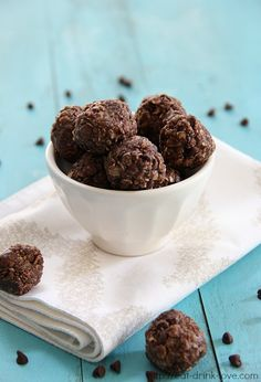 Chocolate Energy Bites - healthy dessert or just a yummy midday snack!