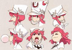 """h0saki: """" Nonon illustrations by Kill la Kill character designer and chief animation director Sushio, featured in his artbook """"LOVE LOVE KLKL"""" """""""