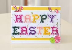 Cross Stitching on Cards with Burlap