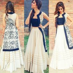 Indo western dresses for girls are a trending Outfit among girls and women. Adore the best indo western dresses for girls and ladies with us. Pakistani Dresses, Indian Dresses, Indian Outfits, Indian Style Clothes, Indian Attire, Indian Wear, Indian Designer Outfits, Designer Dresses, Party Wear
