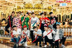 'Wanna One go Carrousel' Poster by Jessica Chi Asian Music Awards, Lotte World, You Are My World, Guan Lin, Lai Guanlin, Produce 101 Season 2, Kim Jaehwan, Ha Sungwoon, Kpop