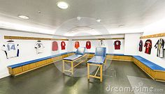 Guests changing room at Stamford Bridge stadium - the official arena of FC Chelsea