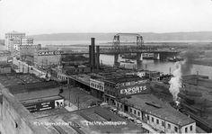 Tacoma, Washington. City of Destiny. Historic photis. This photo shows a downtown Tacoma birdseye view, Circa 1920