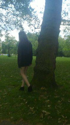 Maria in the park.