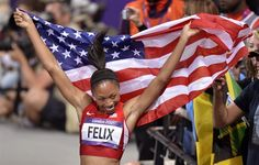 A lovely, godly woman, Allyson Felix...also happens to be a gold medal winner
