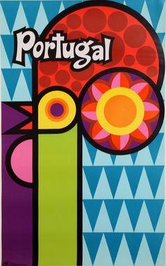 Travel Poster, Unknown designer, ca. 1960's, Portugal.
