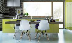 Yellow kitchen/ tavolo Air di Lago