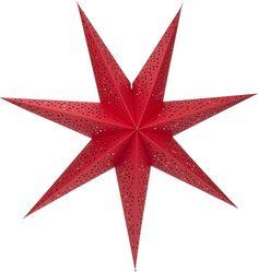 Adventsstjärna i papper, Stråla 70 cm, röd, 3502286