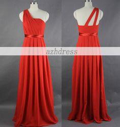 Charming One Shoulder Long Prom Dress / Graduation by azhdress, $119.00