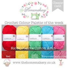 Color Palette - Cath Kidston inspired red, yellow, green, blue, pink