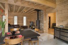 Honka Blockhaus Modell Esquibien Wohnbereich