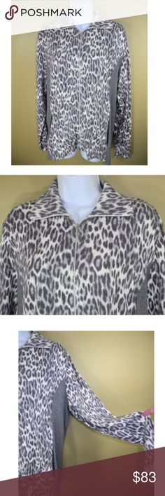 "Zenergy Chico's 2 Animal Print Cardigan Jacket NWT Zenergy Chico's Animal Print Cardigan Jacket NWT $119 Size 2 This is New w/Tags - No Issues or Flaws  Please go by Measurements Underarm to Underarm:  22"" Total Length Down Back:  25"" Across back of shoulders:  17"" Sleeve Length:  25 Chico's Sweaters Cardigans"