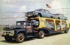 1960 Chevy Biscayne, Sateen Silver 4drs on hauler