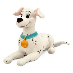 This soft plush from the disney animated classic 101 dalmations its tall, and it is of the mother dog perdita-- or perdy as pongo called her. it looks to be a soft cuddly plush that any child would love to have or even any adult disney fan as we. Disney Plush, Disney Toys, Baby Disney, Pet Toys, Doll Toys, Kids Toys, Dolls, Disney Stuffed Animals, Cute Stuffed Animals