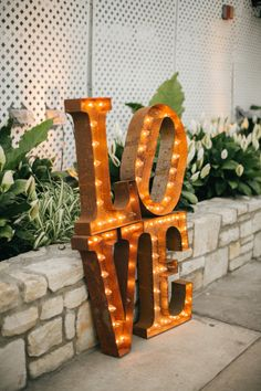 LOVE sign: http://www.stylemepretty.com/pennsylvania-weddings/philadelphia/2015/01/16/romantic-pennsylvania-wedding-at-fairmount-park-horticulture-center/ | Photography: Emily Wren - http://emilywrenweddings.com/