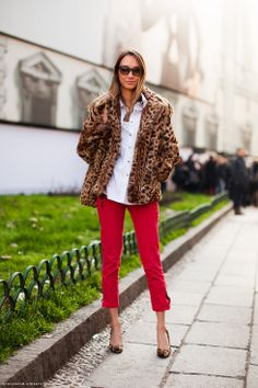 red and leopard.