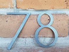 Modern House Numbers,Metal Numbers, Modern Numbers,Modern Decor,Address by RetroAZ on Etsy https://www.etsy.com/uk/listing/399196179/modern-house-numbersmetal-numbers-modern