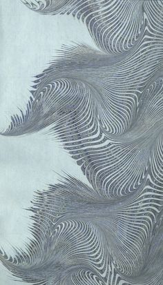 Modern 20th c. marbled paper, Turkish combed