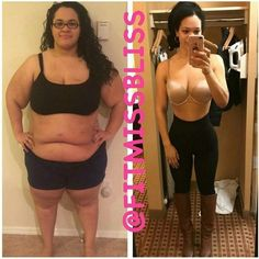 """Comment with what you think! Want to Make a Transformation Like This? Check bio for our Five Star 90-day Transformation Program! Use #TransformFitspoCommunity for a chance to Get Your Transformation Featured @fitmissbliss """"I snapped the photo on the right this morning while getting dressed (hence me being in leggings boots and my bra - anyone else put on shoes before their top? I get dressed this way daily- I just can't get a feel for an outfit without my shoes on). I have been seeing some…"""