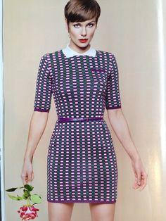 Angela Schijf draagt M Missoni in Red Magazine via Raak