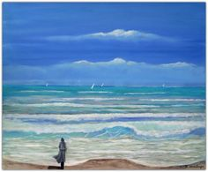 Acryl/Leinwand 50 cm x 60 cm x 3,5 cm Preis über 570,- Euro  Am Strand