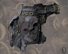 Trail Tracker Belt - triple one leg pocket grip belt - cosplay steampunk style tomb raider extension hip waist pocket thigh bags belt Moda Steampunk, Style Steampunk, Steampunk Costume, Steampunk Fashion, Thigh Bag, Leather Utility Belt, Belt Pouch, Black And Navy, Leather Working