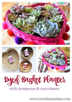 How to dye a basket