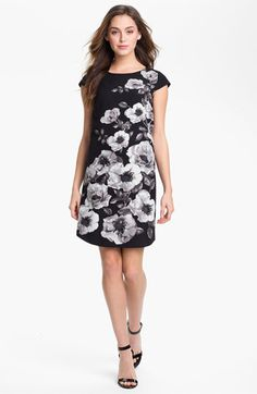 Halogen Placed Print Shift Dress available at #Nordstrom